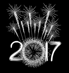 Fireworks for new year 2017 vector