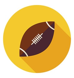 Flat Sports Ball American Football Circle Icon vector
