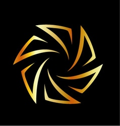 Golden aperture logo vector