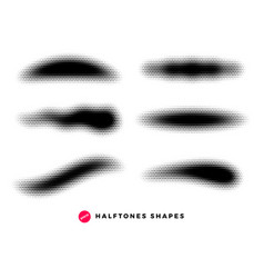 halftone dots graphic elements grunge brushes vector image
