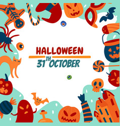 halloween soon flat background vector image