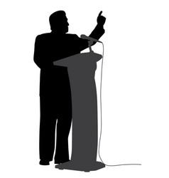 Man public speaking vector