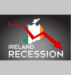 Map ireland recession economic crisis creative vector