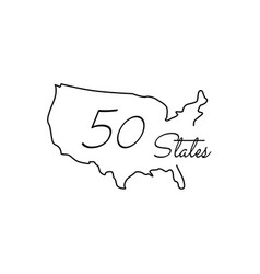 map united states america 50 states usa icon vector image