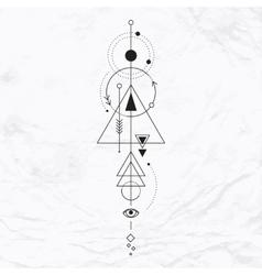 Modern geometric alchemy symbol vector