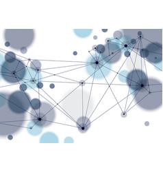 molecule and communication geometric 3d mesh vector image