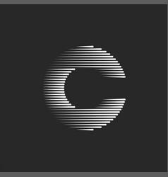 monogram c letter logo creative design typography vector image