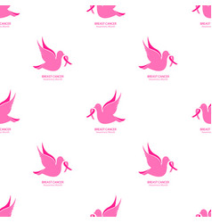 national breast cancer awareness month seamless vector image
