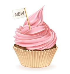 New Cupcake vector image