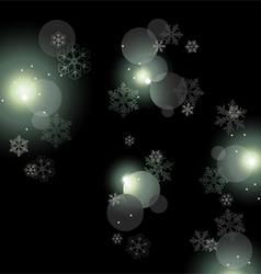 Night background with snowflakes vector image