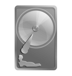 Old hard disk icon cartoon style vector