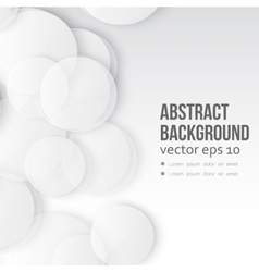 Paper circle banner vector image