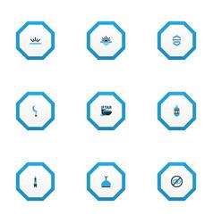Ramadan icons colored set with kareem vector
