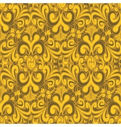 Seamless vintage yellow background vector image