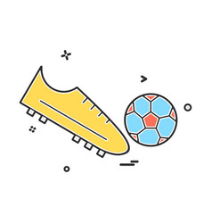 shoes football icon design vector image