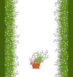 spring or summer border of little blue wild vector image