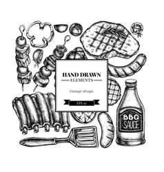 square design with black and white spatula pork vector image