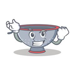 Successful colander utensil character cartoon vector