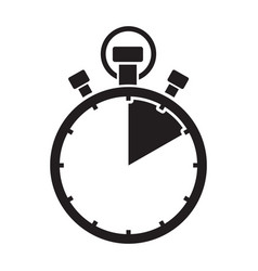 Ten minute stop watch countdown vector