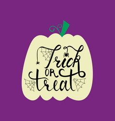 trick or treat modern brush inscription vector image