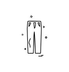trouser icon design vector image