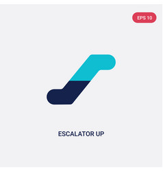 two color escalator up icon from airport terminal vector image