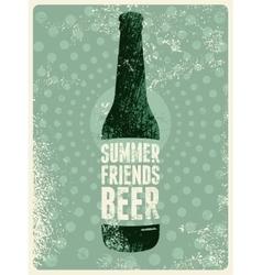 Typographic vintage grunge beer poster vector