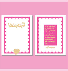 valentines day party greeting cards vector image