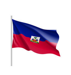 waving flag of haiti vector image