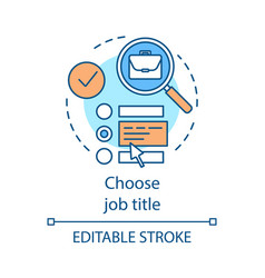 Work searching website concept icon vector