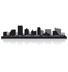 Atlantic city usa skyline silhouette vector