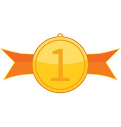 medal for 1 st place vector image