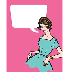 Retro 1950s Housewife vector image vector image