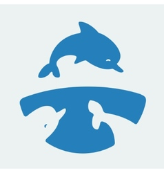Symbol Dolphins vector image vector image