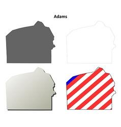Adams Map Icon Set vector image vector image