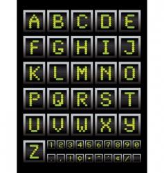 alphabet notice board vector image