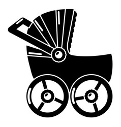 baby carriage big icon simple black style vector image