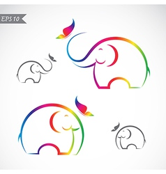 Elephant and butterflies vector image vector image