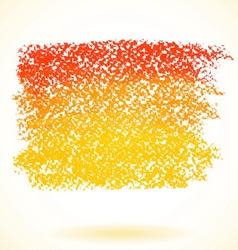 Orange pastel crayon spot isolated on white vector