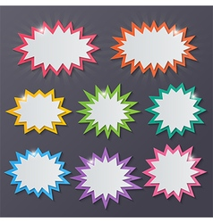 paper starburst speech bubbles vector image vector image