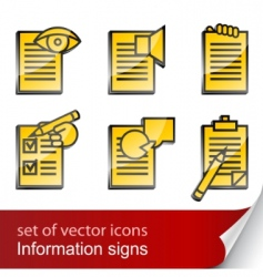 set informational sign icon vector image vector image
