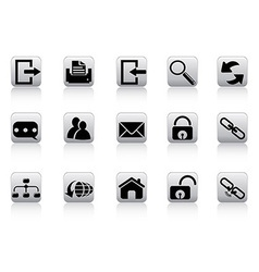 web and internet button icons vector image vector image