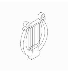 Lyre icon isometric 3d style vector image