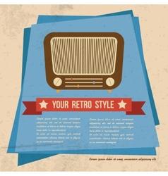 Retro style poster vector