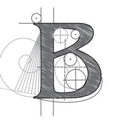 b vector image vector image