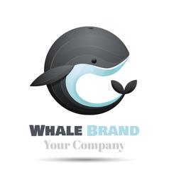 Colorful 3d Volume Logo Design whale icon symbol vector image vector image