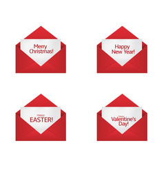 congratulations card set vector image vector image