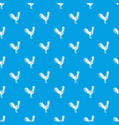 gallic rooster pattern seamless blue vector image vector image