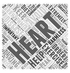 Living with heart arrhythmias word cloud concept vector