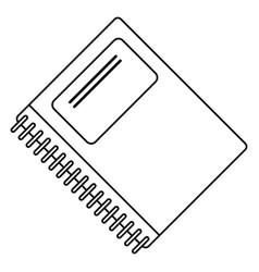 notebook spiral school thin line vector image